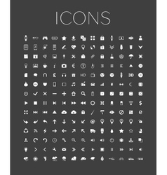 set universal web icons on a gray background vector image