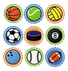 Set with sport balls - cartoon vector