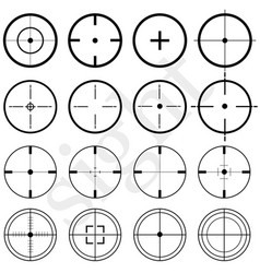 Sights set on a white background flat vector