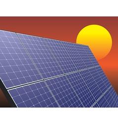 Solar energy panel vector