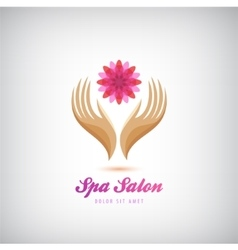 spa beauty salon cosmetics massage logo vector image