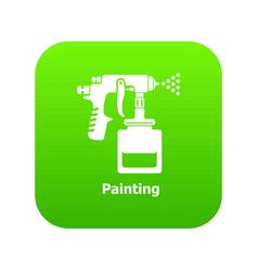spray gun icon green vector image