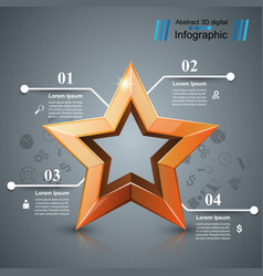 star of the winner business infographic vector image