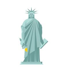 Statue of liberty sad sorrowful landmark america vector