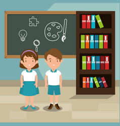 students in the classroom characters vector image