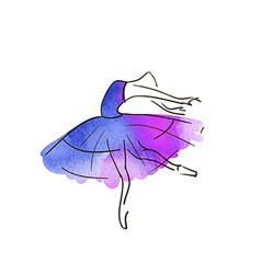 Stylised dancing woman vector