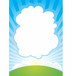 sunrise with cloud background vector image