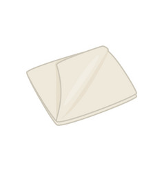 Textile beige rag home cleaning tool simple vector