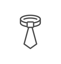 tie line icon vector image