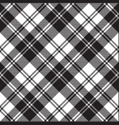 Traditional check fabric texture black white vector