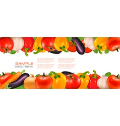 two banners of vegetables vector image