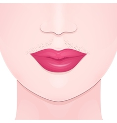 Unwanted facial hair vector