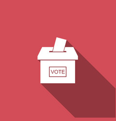 vote box or ballot box with envelope icon isolated vector image