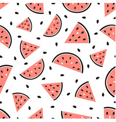 watermelon seamless pattern summer fruit vector image