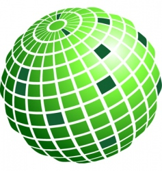 wire frame globe vector image