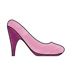 Woman heel footwear vector
