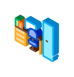 Workplace rooms isometric icon vector