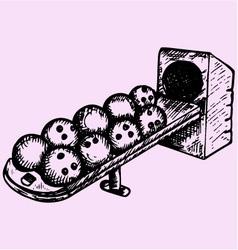 bowling balls sitting ball return vector image