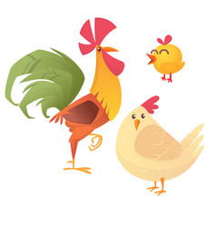 cartoon of rooster vector image vector image