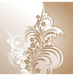 floral background abstract design vector image