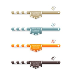 Four colored web banners with place for your own vector image vector image