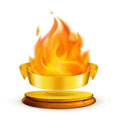 Golden flame vector image