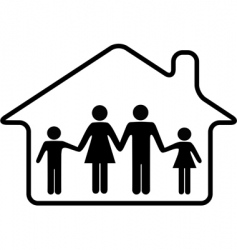 house family parents and children vector image