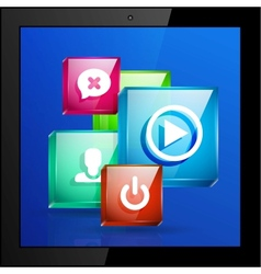 mobile applications concept vector image