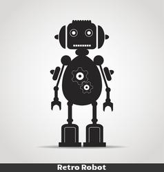 Robot with antena copy vector image vector image