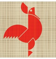 rooster print vector image