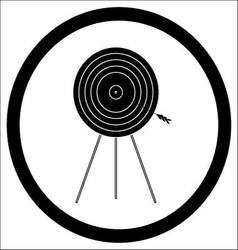 Target goal of black icon vector image vector image