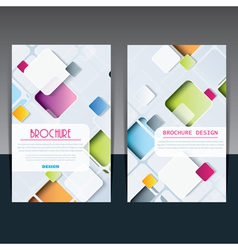 Template of brochure design with squares vector image