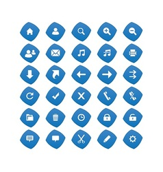 Web Blue Icons vector image vector image