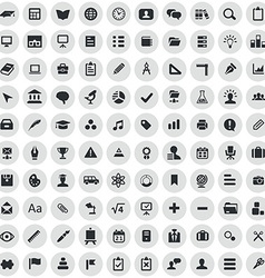 100 education icons vector image vector image