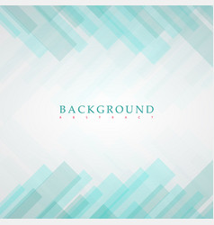 abstract green rectangles background vector image