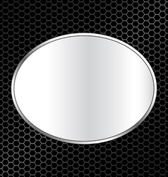 abstract metal texture background with oval frame vector image
