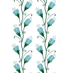 Bluebell Flowers Seamless Pattern vector image vector image