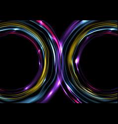 colorful glowing electric neon abstract background vector image vector image