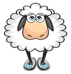 Cute white sheep vector image