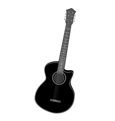 Electric guitar instrument isolated vector