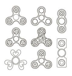 fidget finger spinner set vector image