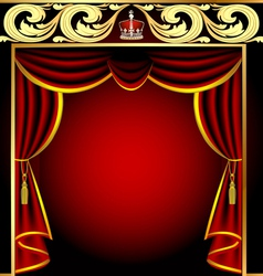 Vintage Theater Curtain vector image