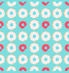 white and red donuts vector image vector image