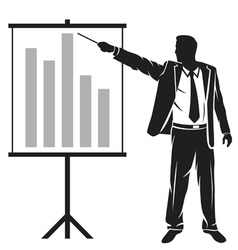businessman making a presentation vector image