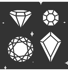 Set diamond symbol vector