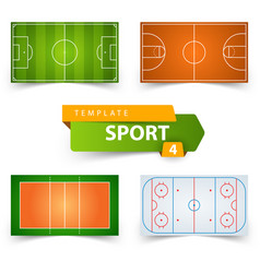 soccer football basketball volleyball hockey - vector image vector image