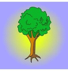 Tree Pop art vector image