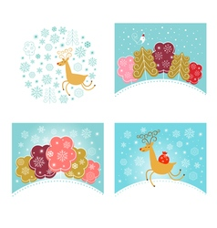 Christmas design elements set New year greetings vector image vector image