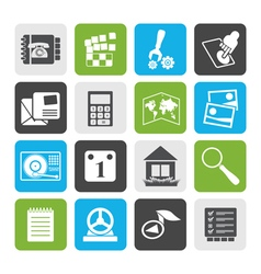 Flat Mobile Phone and Computer icon vector image vector image