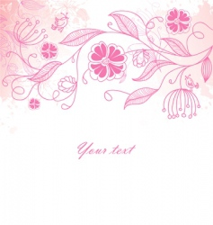 floral back blob vector image vector image